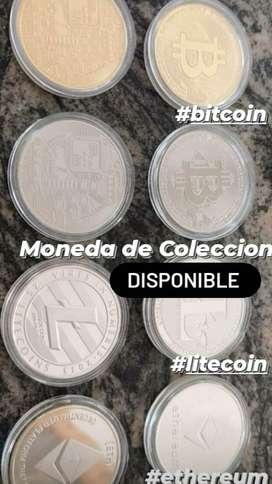 Moneda Fisica Bitcoin Coleccionable
