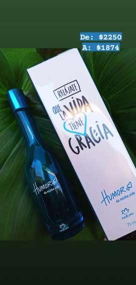 Perfume femenino Humor en Stock y descuento