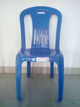 Silla Moderna Tulipán Azul de Plástico