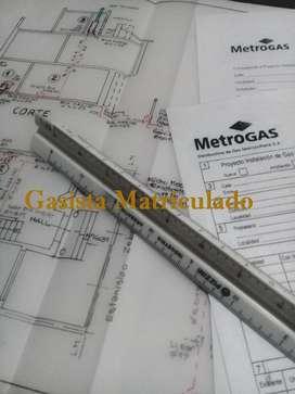 GASISTA MATRICULADO METROGAS Villa España Berazategui