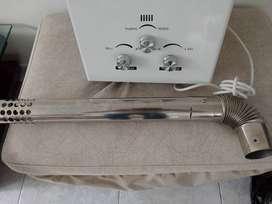 Calentador abba 10 litros tiro forzado sin uso.