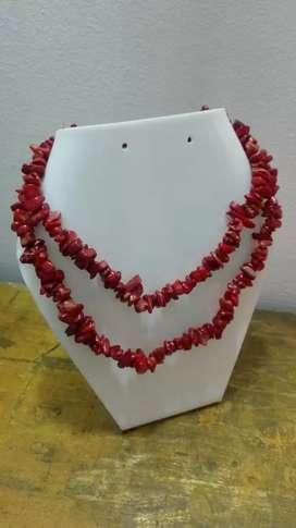 Sarta de coral rojo legitimo