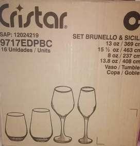 Set de copas y vasos