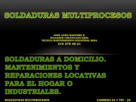 SERVICIO DE SOLDADURA A DOMICILIO. MANTENIMIENTOS Y REPARACIONES INDUSTRIALES Y PARA EL HOGAR.