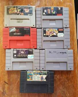 Cassettes de Super Nintendo
