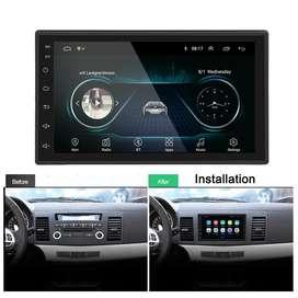 Radio para carro Android con pantalla 7 MP5 USB Bluetooth GPS YouTube