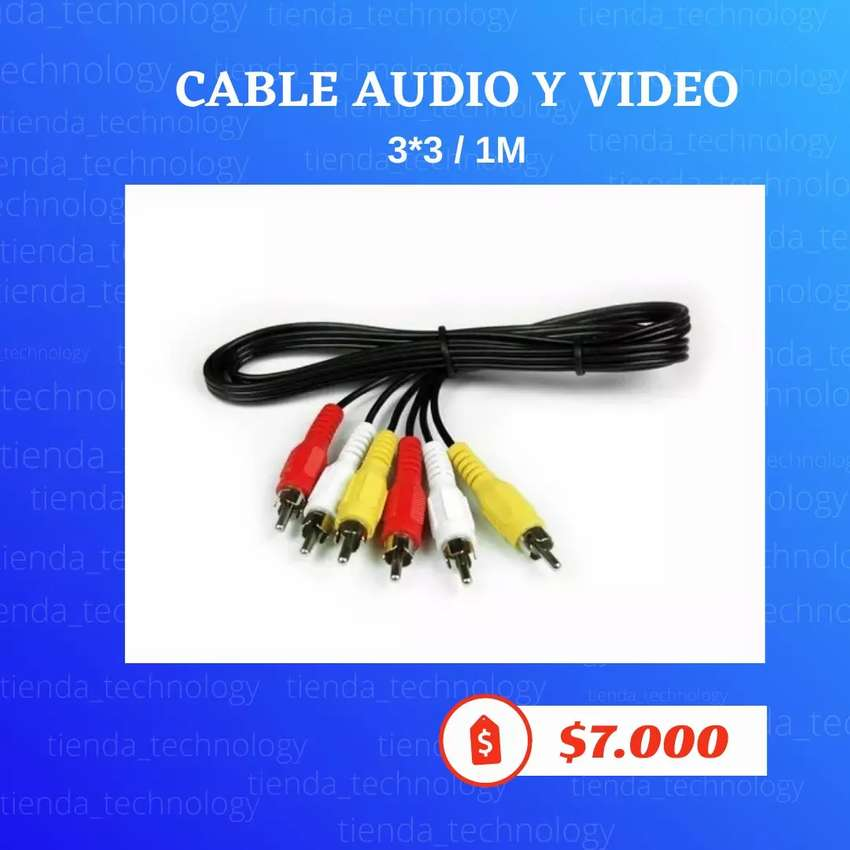 Cable Rca 3x3