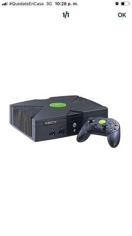 Xbox negro,2 controles juejos fisicos