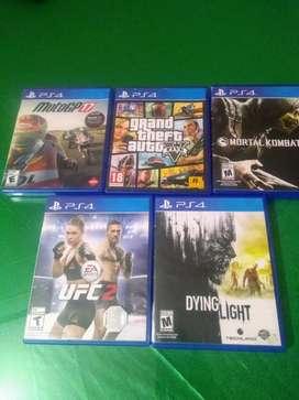 Juegos de PS4 en excelente estado