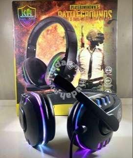 Auriculares TIPO DIADEMA CON LUCES Efecto 3d/5d .Gaming RGB Light KR-102