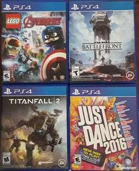 Juegos para PS4. Precio por unidad.