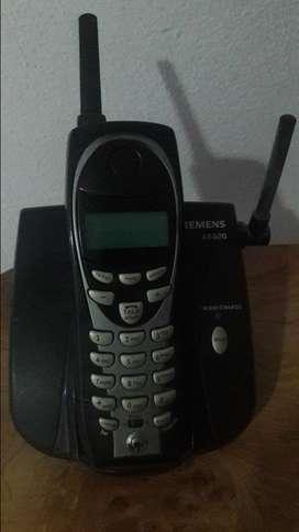 Teléfono inalámbrico y de línea.