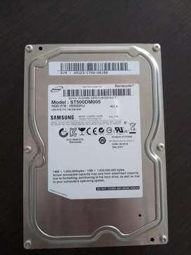 Disco Duro HDD 500 GB Samsung Barracuda SATA II (3.0 GB/s) a 7200 rpm