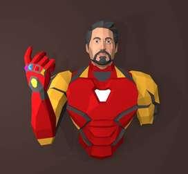Plantillas Esculturas 3D Super Heroes Pared