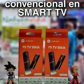 Mi stick. Convierte tu tv convencional en Smart tv. Sistema Android.