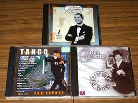 Lote X 3 Cds De Tango / Carlos Gardel y Tangos Clásicos