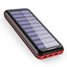 Cargador Solar Akeem De 22000mah, Banco De Energía