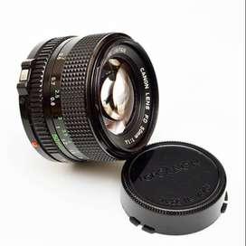 lente canon FD 50 mm 1 1.4