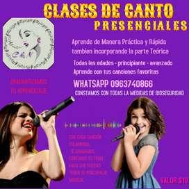 CLASES DE CANTO PRESENCIALES