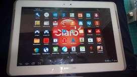 Vendo tablet blanca bonita ...minimos rayones con simcar ...marca Tab 2 memoria internas 16 Gb  de 10 pulgadas