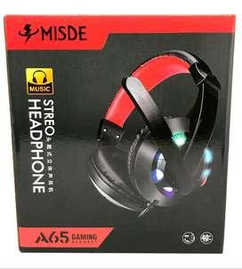 Diadema Gamer Misde A54 con microfono (2 plugs)