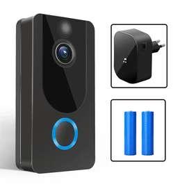Intercomunicador Portero Video Timbre 1080P WiFi IR Vision Nocturna Detector Movimiento + Repetidor de Timbre + Baterias