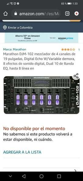 Vendo mixer mezclador DJM-102