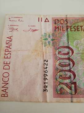 Billete de 2000 pesetas 1992