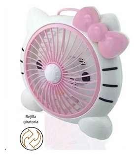 Ventilador Infantil De Mesa Hello Kitty Niña