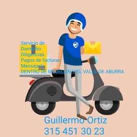 Servicios de mensajería dentro de Medellín y Valle de aburra