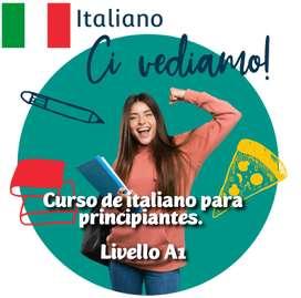 Clases de italiano nivel inicial. Modalidad virtual