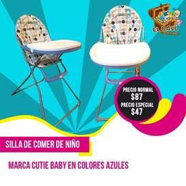 Silla de Comer Cutie Baby Nueva