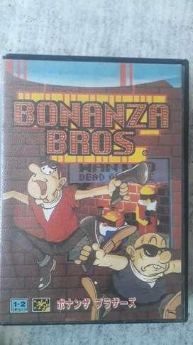 Cartucho de sega BONANZA BROS (original)