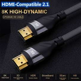 Cable Hdmi 2.1, 8k Ultra Alta Velocidad, 48 Gbps, 5 Metros