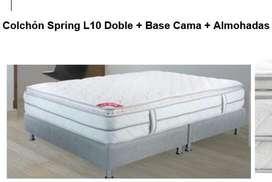 Gran oportunidad! Cama Doble Spring