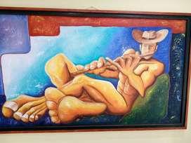 obra de arte pintura Maestro Omar Clavijo