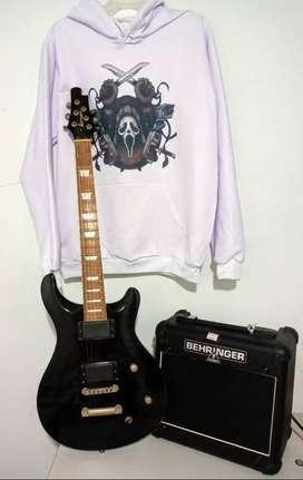 Se vende guitarra eléctrica mas amplificador.