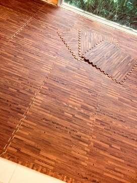 Pisos de Goma eva simil madera