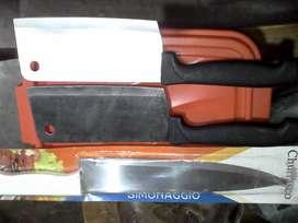Cuchillo para pescado y hachuela