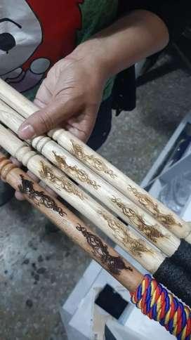 Cerbatanas ninja de lujo en madera calibre .5 mm
