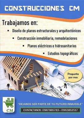 Servicios de Ingeniería: Construcciones, remodelaciones, topografía, planos arquitectónicos y estructurales