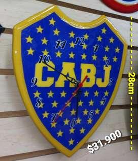 RELOJ DE PARED BOCA JUNIOR ESTANDAR 28CM