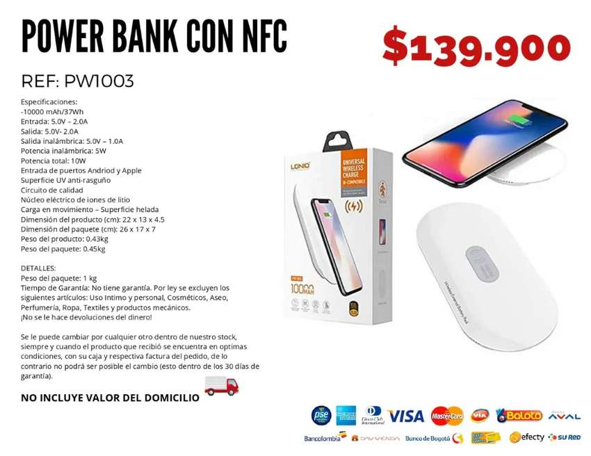 Power bank con nfc. Envío gratis
