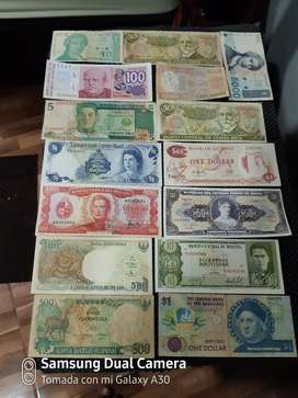 Billetes Originales de Diferentes Paises
