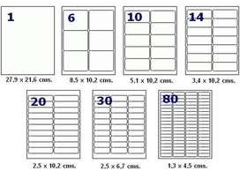 Caja de Etiquetas Inkjet Y Laser Codigo De Barra Etc lista para imprimir rotuladas