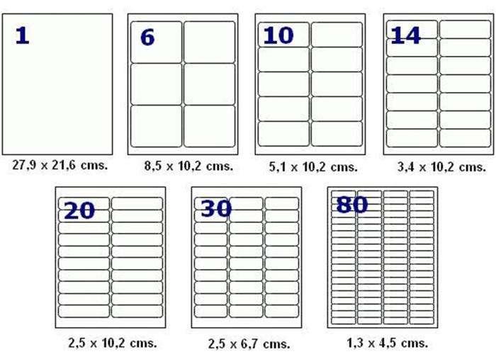 Caja de Etiquetas Inkjet Y Laser Codigo De Barra Etc lista para imprimir rotuladas 0