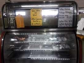 Frío congelador más exhibidor