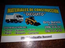 VENTA DE MATERIALES DE CONSTRUCCIÓN Y ALQUILER DE RETROEXCAVADORA