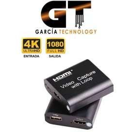 CAPTURADORA DE VIDEO HDMI 4K