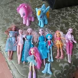 Lote de muñecas originales todos en 50000